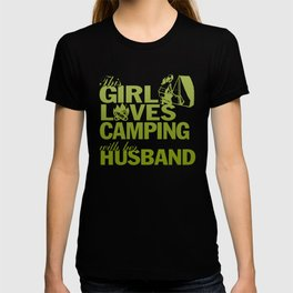 LOVES CAMPING WITH HER HUSBAND T-shirt