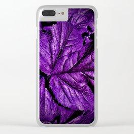 Purple Leaf Squash Clear iPhone Case