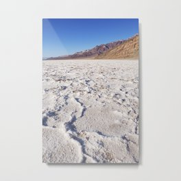 Badwater Basin salt flat in Death Valley National Park Metal Print
