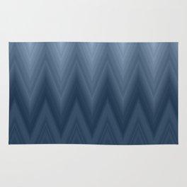 Navy Blue Chevron Ombre Rug