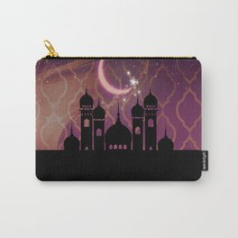 Purple & Gold Arabian Nights Half Moon Carry-All Pouch