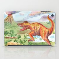 t rex iPad Cases featuring T-Rex by Catherine Holcombe