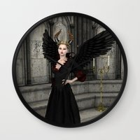 evil queen Wall Clocks featuring Evil Queen by Design Windmill
