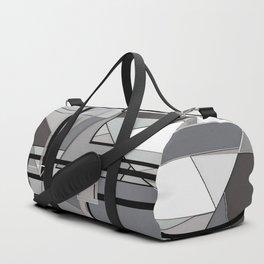 Gray Geometry Duffle Bag
