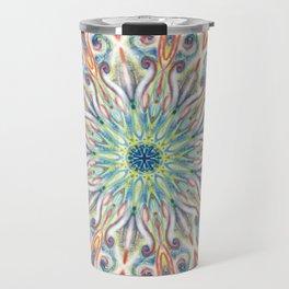 Colorful Center Swirl Travel Mug