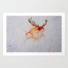 Pez ciervo  Art Print