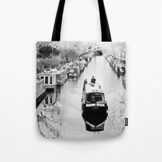London canal during winter Tote Bag