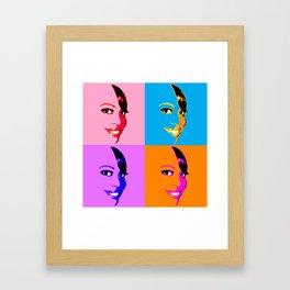 Keisha D POP! 4 Color Framed Art Print