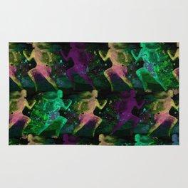Watercolor women runner pattern on Dark Background Rug
