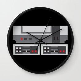 NES PIXEL PATTERN Wall Clock