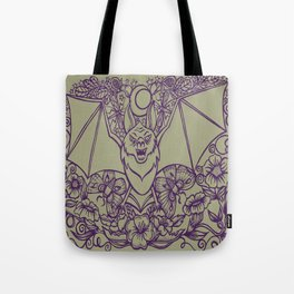 Bats, Flowers, Figs and Moths Tote Bag