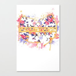 Wutang Wednesday Floral Print Redesign  Canvas Print