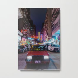 Hong Kong Taxi Metal Print