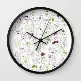 50 shades of llama Wall Clock