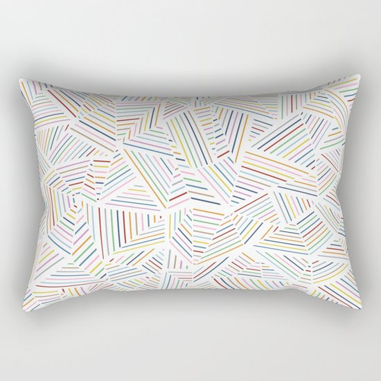 Abstraction Linear Rainbow Rectangular Pillow