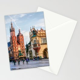 Cracow Main Square art Stationery Cards
