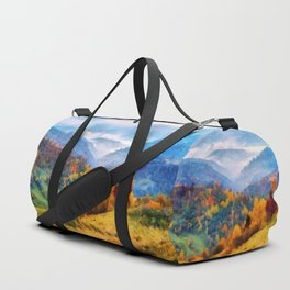 Autumn in the mountains Duffle Bag