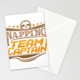 Napping Team Captain Sloth Snooze Stationery Cards