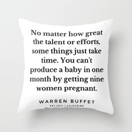 9  | Warren Buffett Quotes | 190823 Throw Pillow