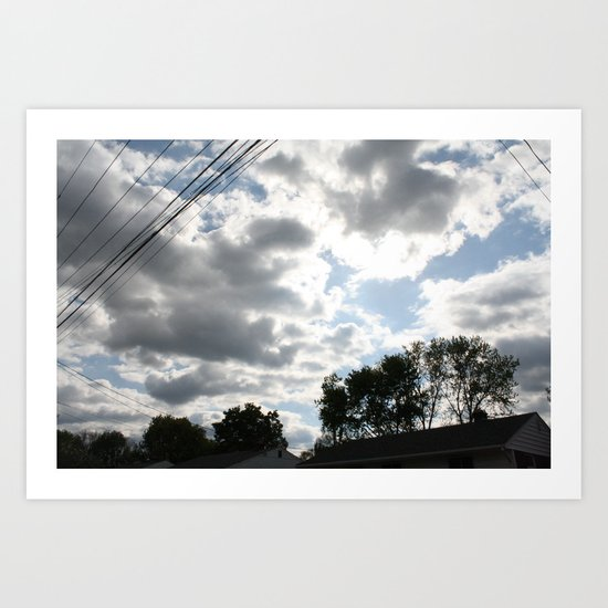 The clouds looked so vibrant, Art Print