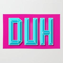 """""""DUH"""" 3D Letters (Hot Pink, Light Sky Blue) Rug"""