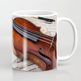 Violin music and notation Coffee Mug