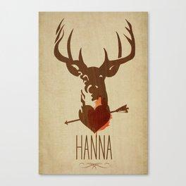 HANNA film tribute poster Canvas Print