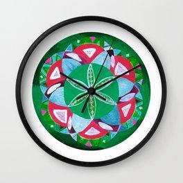 Ancient Jungle Mandala Wall Clock