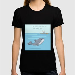Shark practicing yoga pose T-shirt