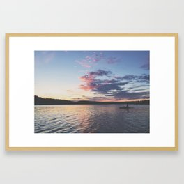 Sun Kayak Framed Art Print