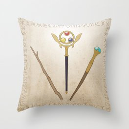 A Young Wizard's Tools Throw Pillow