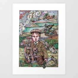 The Song of the Little Hunter Art Print