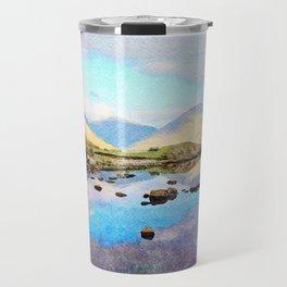 """Enough Blue Sky"" Derwentwater Reflections, Lake District, UK Travel Mug"