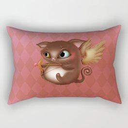 Cupid Kitty Rectangular Pillow