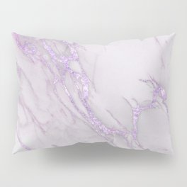 Marble Love Purple Metallic Pillow Sham