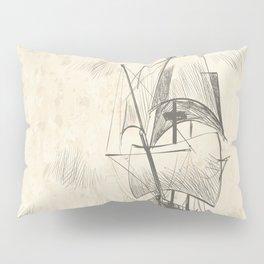 Vintage hand drawn galleon background Pillow Sham