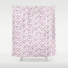 fangs and molars Shower Curtain