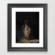 Untamed (woman with tiger features)  Framed Art Print