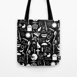 Buffy Symbology, White Tote Bag