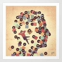 vinyl Art Prints featuring Vinyl by Davide Bonazzi