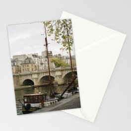 Ships at Dock Stationery Cards