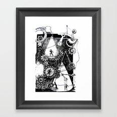 machine Framed Art Print