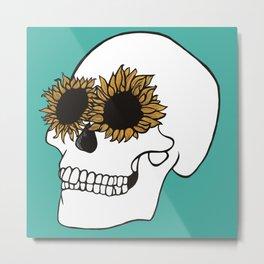 Seeing Sunflowers Metal Print