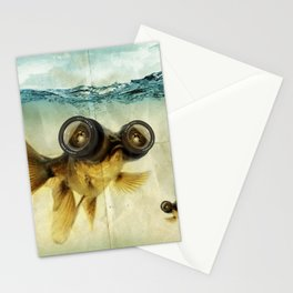 Fisheye lens (Goldfish) Stationery Cards