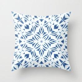 Arrowhead Denim White Throw Pillow