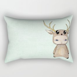 A Boy - Red Deer Rectangular Pillow