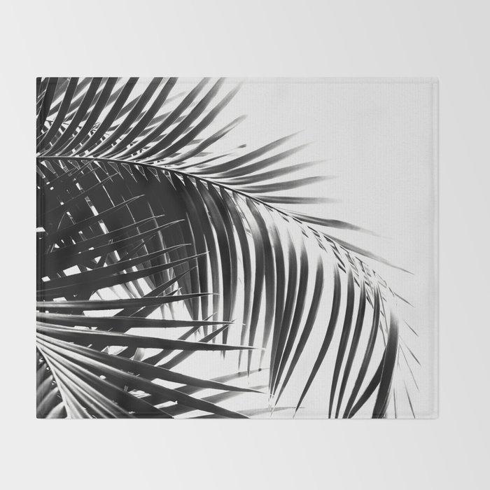 Palm Leaves Black & White Vibes #3 #tropical #decor #art #society6 Throw Blanket