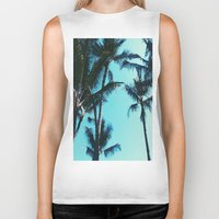 palm trees Biker Tanks featuring Palm Trees by Alexandra Str