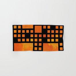 Visopolis V1 - orange flames Hand & Bath Towel