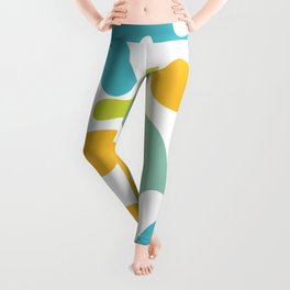 Groovy Flowers Maximalist Abstract in Springtime Colors Leggings